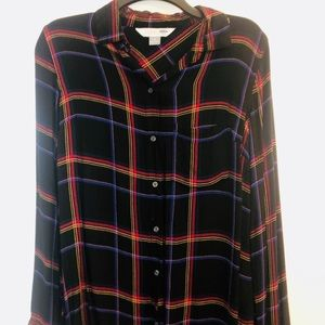 Old Navy Classic Shirt red and black hi-low cut M